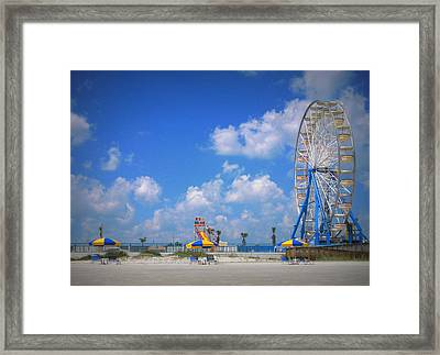 Daytona Beach Boardwalk Framed Print