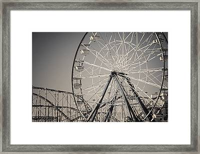 Daytona Beach Ferris Wheel Framed Print by Joan Carroll