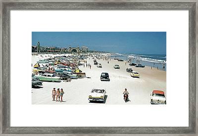 Daytona Beach Florida - 1957 Framed Print