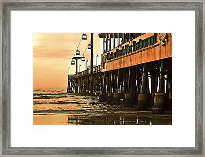 Daytona Beach Pier Framed Print by Carolyn Marshall