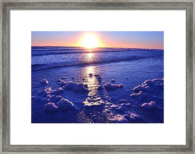 Daytona Beach Sunrise Framed Print