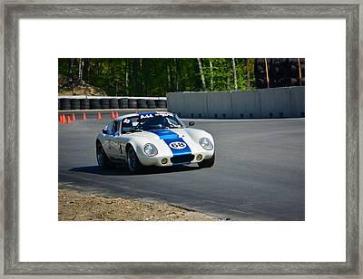 Daytona Shelby Cobra Replica Framed Print by Mike Martin