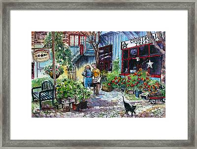Framed Print featuring the painting Daytripper  by Margit Sampogna