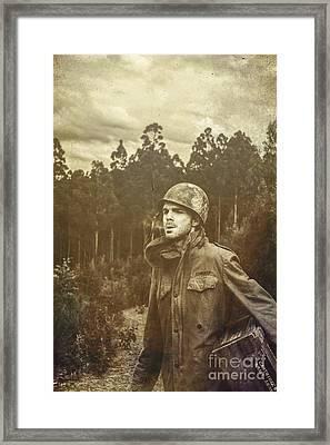 Daze Of War Framed Print