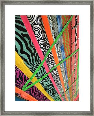 Dazzling Delirious Duct Tape Diagonals Framed Print