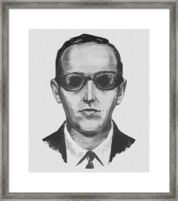 Db Cooper Framed Print by War Is Hell Store
