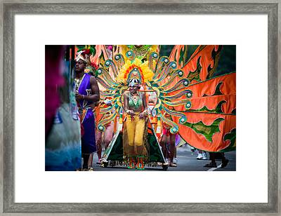 Dc Caribbean Carnival No 15 Framed Print by Irene Abdou