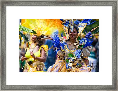 Dc Caribbean Carnival No 19 Framed Print by Irene Abdou