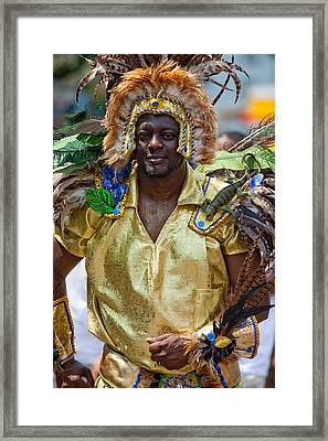 Dc Caribbean Carnival No 21 Framed Print by Irene Abdou