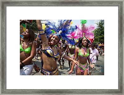 Dc Caribbean Carnival No 8 Framed Print by Irene Abdou