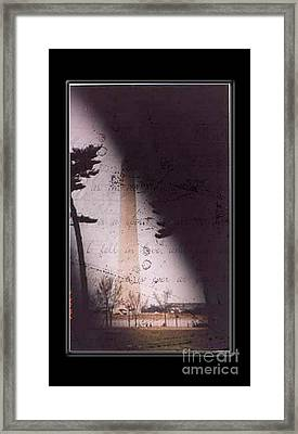 Dc Grunge  Framed Print by Lynn Gettman