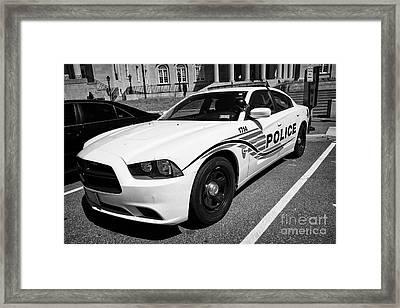 dc metropolitan police patrol cruiser car judiciary square Washington DC USA Framed Print