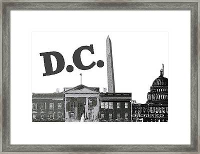 Dc On Edge Framed Print by Pharris Art