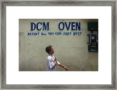 Dcm Oven 2 Framed Print by Jez C Self