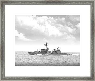 Dd 719 Uss Epperson Framed Print by Mike Ray