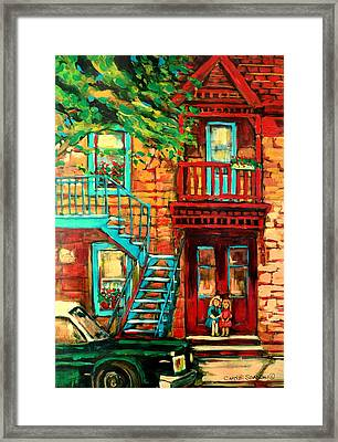 De Bullion Street Girls Framed Print by Carole Spandau