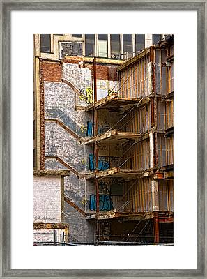 De-construction Framed Print
