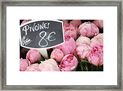 De Couleur Rose Framed Print
