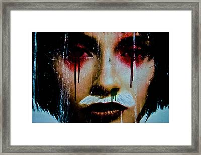 De Face I Framed Print