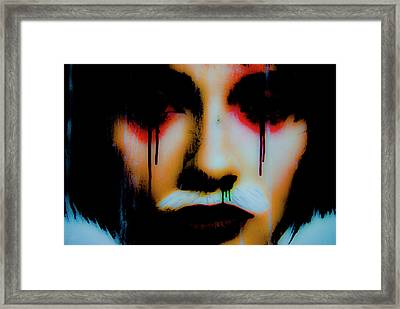 De Face II Framed Print