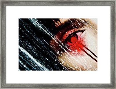 De Face Iv Framed Print