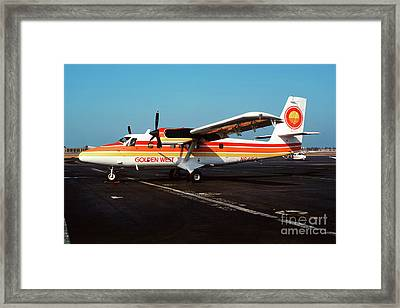 De Havilland Canada Dhc-6 Twin Otter, N64150 Framed Print by Wernher Krutein