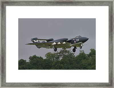 Framed Print featuring the photograph De Havilland Dh110 Sea Vixen  by Tim Beach