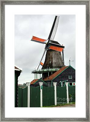 De Kat Windmill In Zaanse Schans Framed Print by RicardMN Photography