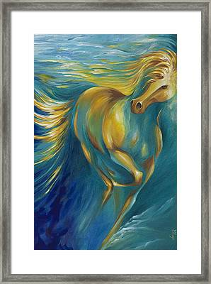 Framed Print featuring the painting De La Mare by Dina Dargo