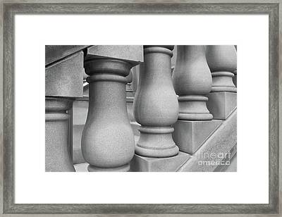 De Pauw University Stone Balustrade Framed Print