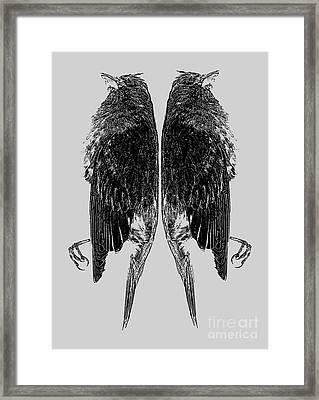 Dead Birds Tee Framed Print by Edward Fielding