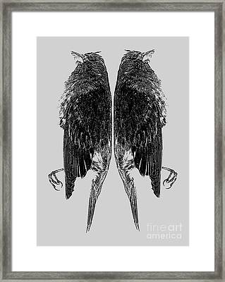 Dead Birds Tee Framed Print