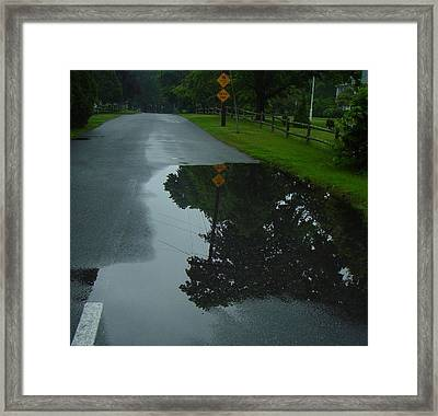 Dead End Puddle Framed Print by Ron Sylvia