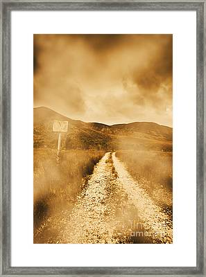 Dead End Road Framed Print by Jorgo Photography - Wall Art Gallery