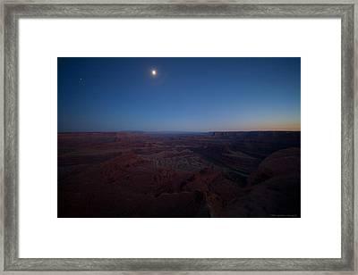 Dead Horse Point Framed Print by Luigi Barbano BARBANO LLC