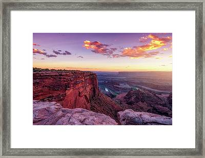 Framed Print featuring the photograph Dead Horse Point Sunset by Darren White