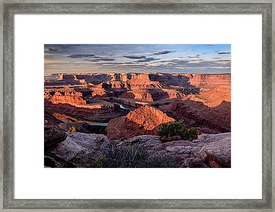 Framed Print featuring the photograph Dead Horse State Park by John Gilbert