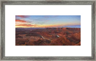 Dead Horse Sunrise II Framed Print by Jon Glaser