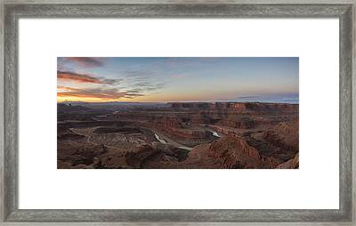 Dead Horse Sunrise Framed Print by Jon Glaser