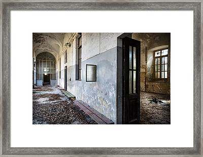 Dead Leaves At The Monastery - Ruban Exploration Framed Print by Dirk Ercken