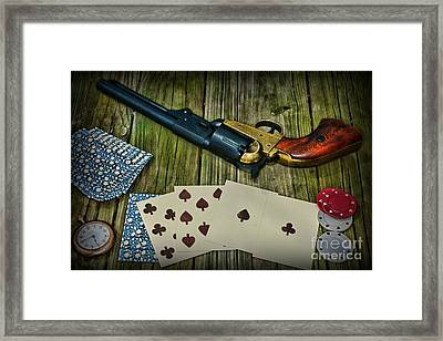 Dead Mans Gun Aces High Framed Print by Paul Ward