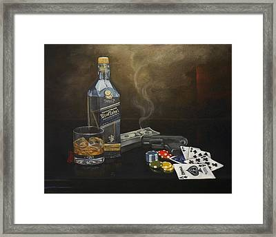 Dead Man's Hand Framed Print by Tracy Dupuis Roland