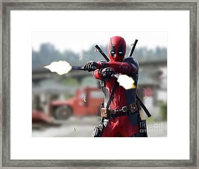 Deadpool Framed Print by Paul Tagliamonte