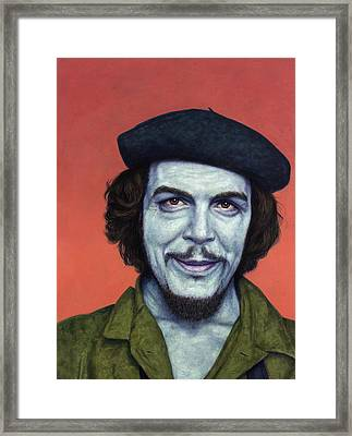Dead Red - Che Framed Print by James W Johnson