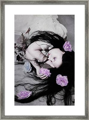 Dead Roses Framed Print by Cambion Art