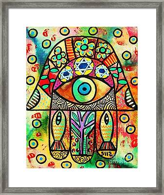 Dead Sea Fish Hamsa Framed Print