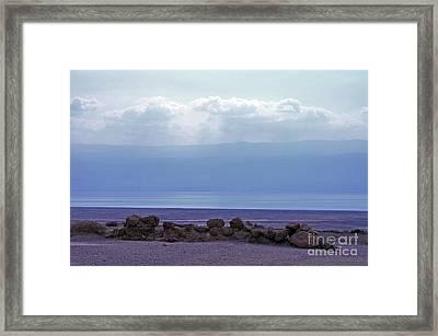 Dead Sea From Qumran Framed Print