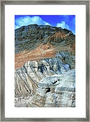 Dead Sea Scroll Caves Framed Print