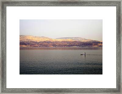 Dead Sea Sojourn Framed Print by Deb Cohen