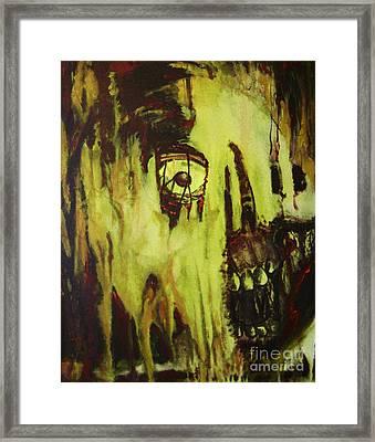 Dead Skin Mask Framed Print